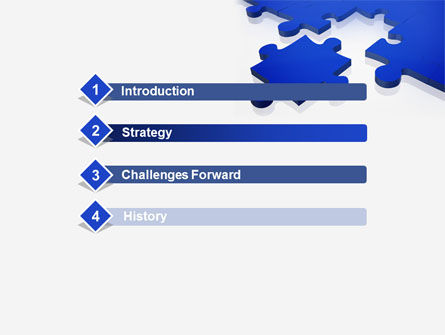 Blue Puzzle PowerPoint Template Slide 3