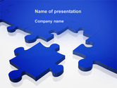 Consulting: Blue Puzzle PowerPoint Template #09400