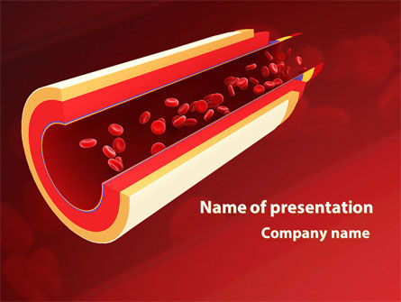 Medical: Blood Flow PowerPoint Template #09401
