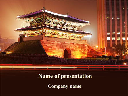 Modern China Night PowerPoint Template, 09402, Flags/International — PoweredTemplate.com