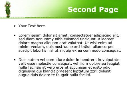 Green Life PowerPoint Template, Slide 2, 09405, Nature & Environment — PoweredTemplate.com