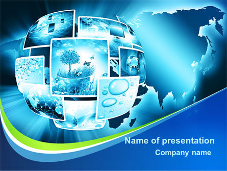 Global: Modern Life At The Planet Earth PowerPoint Template #09407