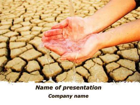 Thirst PowerPoint Template, 09408, Nature & Environment — PoweredTemplate.com