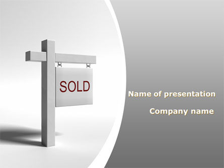 Sold Real Estate PowerPoint Template, 09409, Real Estate — PoweredTemplate.com