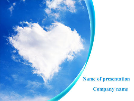 Religious/Spiritual: Heart In The Sky PowerPoint Template #09410
