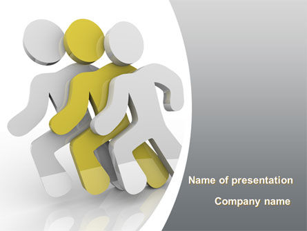 Consulting: Runners PowerPoint Template #09412