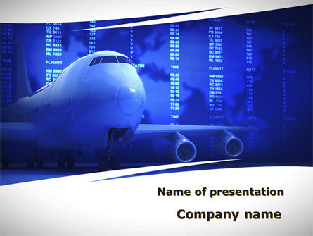 Jumbo Airliner PowerPoint Template, 09413, Cars and Transportation — PoweredTemplate.com