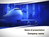 Cars and Transportation: Jumbo Airliner PowerPoint Template #09413