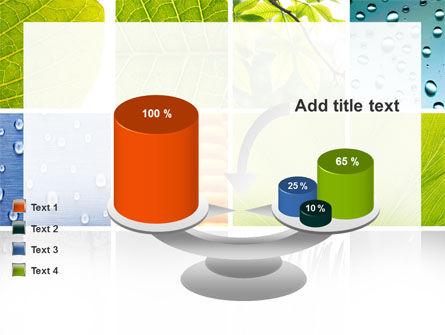 Wet Green Leaf PowerPoint Template Slide 10