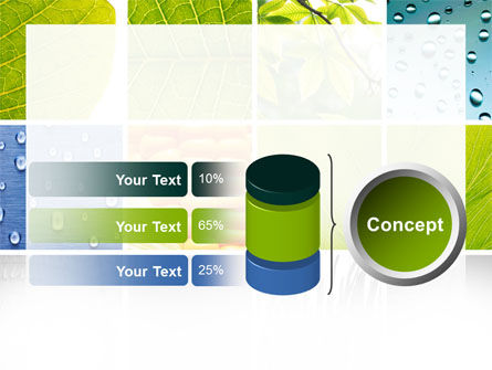 Wet Green Leaf PowerPoint Template Slide 11