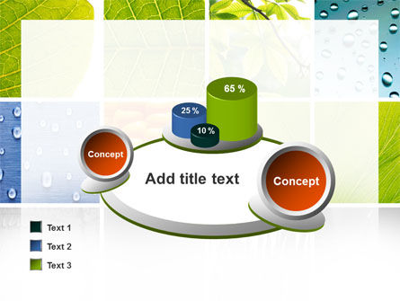 Wet Green Leaf PowerPoint Template Slide 16