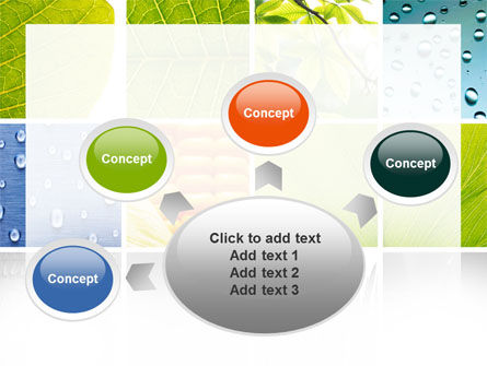 Wet Green Leaf PowerPoint Template Slide 7