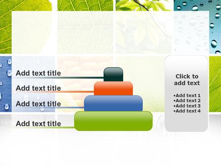 Wet Green Leaf PowerPoint Template Slide 8