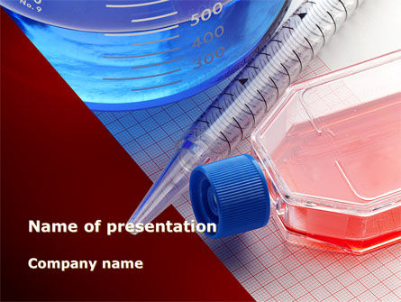 Lab Glassware PowerPoint Template, 09415, Medical — PoweredTemplate.com