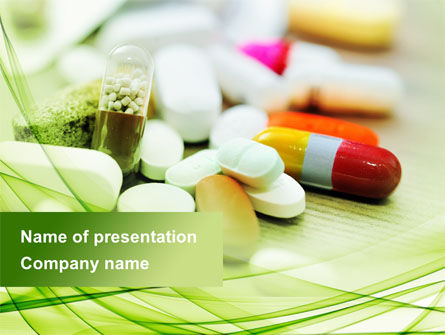 Medical: Medical Pills and Tablets PowerPoint Template #09418