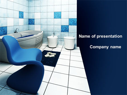 Construction: Bathroom Interior PowerPoint Template #09419
