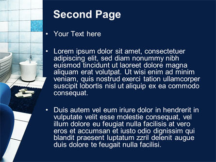 Bathroom Interior PowerPoint Template, Slide 2, 09419, Construction — PoweredTemplate.com