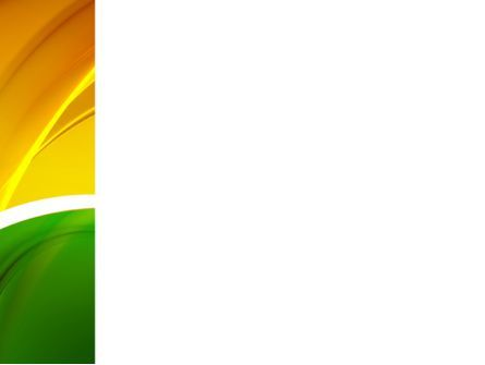 Yellow Green Wave PowerPoint Template, Slide 3, 09422, Abstract/Textures — PoweredTemplate.com