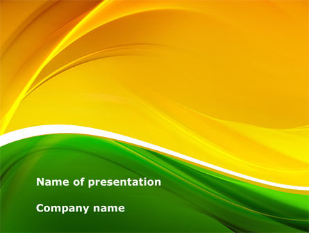 Yellow Green Wave PowerPoint Template