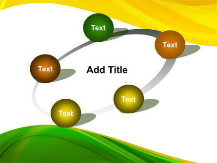 Yellow Green Wave PowerPoint Template Slide 14