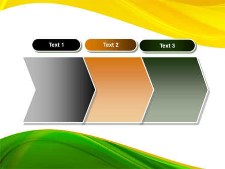 Yellow Green Wave PowerPoint Template Slide 16