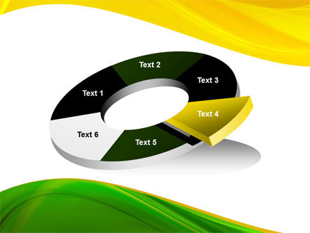Yellow Green Wave PowerPoint Template Slide 19