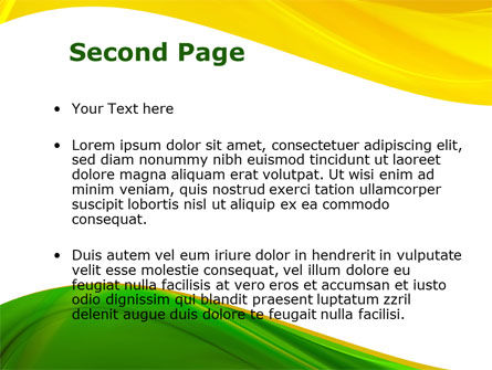Yellow Green Wave PowerPoint Template Slide 2