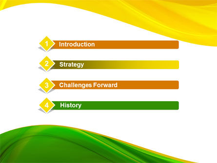 Yellow Green Wave PowerPoint Template Slide 3