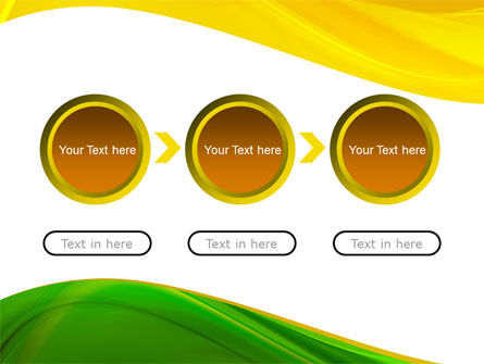 Yellow Green Wave PowerPoint Template Slide 5