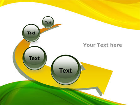 Yellow Green Wave PowerPoint Template Slide 6