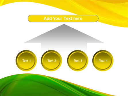 Yellow Green Wave PowerPoint Template Slide 8