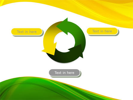 Yellow Green Wave PowerPoint Template Slide 9