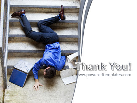 Falling Man PowerPoint Template Slide 20