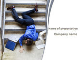 Consulting: Falling Man PowerPoint Template #09423