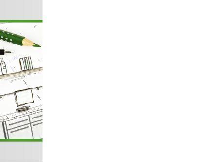 Kitchen Interior Design PowerPoint Template, Slide 3, 09424, Construction — PoweredTemplate.com
