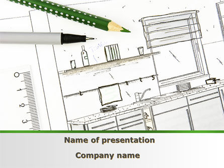 Construction: Kitchen Interior Design PowerPoint Template #09424