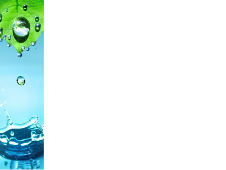 Spring Water Drops PowerPoint Template, Slide 3, 09426, Nature & Environment — PoweredTemplate.com