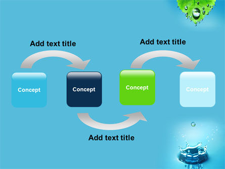 Spring Water Drops PowerPoint Template, Slide 4, 09426, Nature & Environment — PoweredTemplate.com