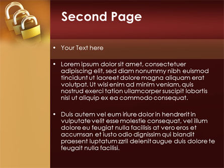 Brass Padlocks PowerPoint Template Slide 2
