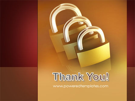 Brass Padlocks PowerPoint Template Slide 20