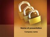 Construction: Brass Padlocks PowerPoint Template #09427