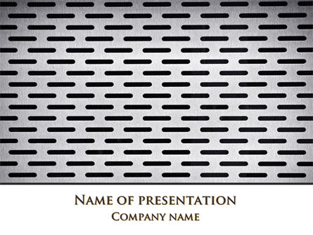Gray Grate Surface PowerPoint Template