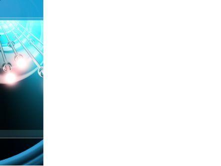 Aqua Blue Helix PowerPoint Template, Slide 3, 09429, Technology and Science — PoweredTemplate.com