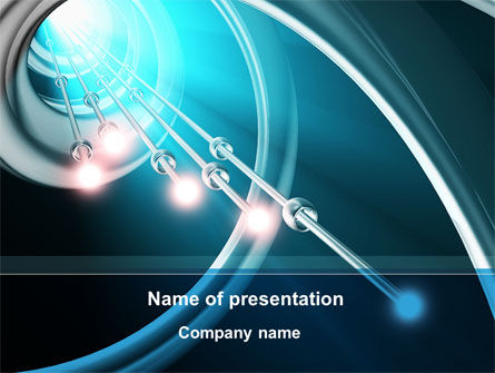 Aqua Blue Helix PowerPoint Template, 09429, Technology and Science — PoweredTemplate.com
