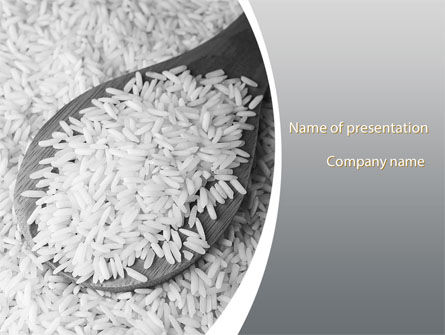 Food & Beverage: Grains Of White Rice PowerPoint Template #09430