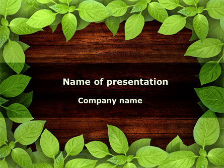 Forest Frame PowerPoint Template, 09432, Nature & Environment — PoweredTemplate.com