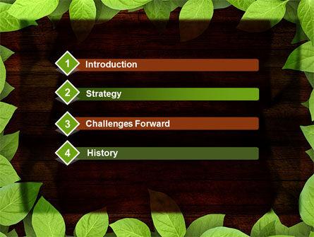 Forest Frame PowerPoint Template, Slide 3, 09432, Nature & Environment — PoweredTemplate.com