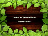 Nature & Environment: Forest Frame PowerPoint Template #09432