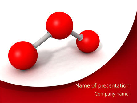 Consulting: Molecular Triatomic Model PowerPoint Template #09433