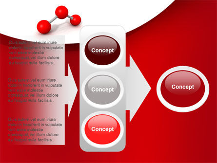 Molecular Triatomic Model PowerPoint Template Slide 11